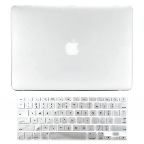 "TOP CASE 2 in 1 - Macbook Air 13"" Rubberized Case Cover + Keyboard Cover - Clear"