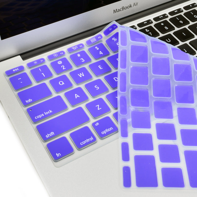 "Dark Purple Keyboard Silicone Cover Skin for New Macbook Air 11"" Model: A1465 - TOP CASE"