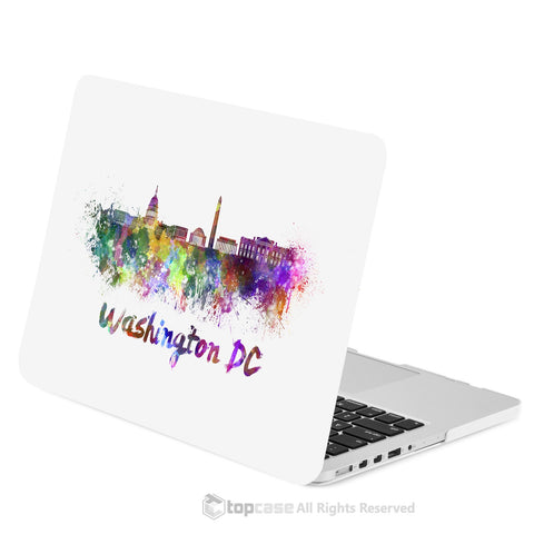 "TOP CASE - City Skyline Graphics Rubberized Hard Case Cover for Macbook Retina 13"" - Washington DC"
