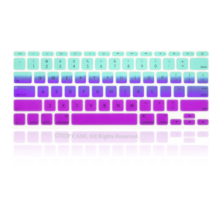 "Light Blue & Purple Faded Ombre keyboard Cover Silicone Skin for Macbook Air 11"" 11-inch"