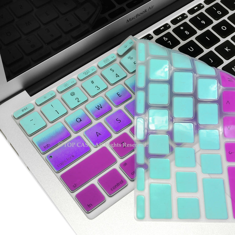 "Light Blue & Purple Faded Ombre keyboard Cover Silicone Skin for Macbook Air 11"" 11-inch - TOP CASE"