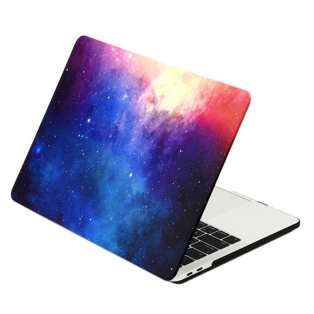 Galaxy Graphic Rubberized Hard Case Cover for MacBook Pro 13-inch A1989/A1706 with Touch Bar / A1708 without Touch Bar ( Release 2016/17/18 ) - Galaxy Pink