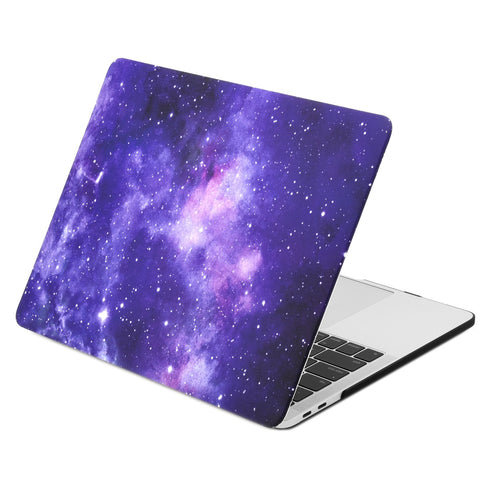 Galaxy Graphic Rubberized Hard Case Cover for MacBook Pro 15-inch with Touch Bar Model: A1707/A1990 (2016/17/18 Release) - Galaxy Purple
