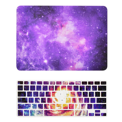 "TOP CASE - 2 in 1 MacBook Pro RETINA 13"" Galaxy Hard Cover + Galaxy Keyboard Skin - Purple"