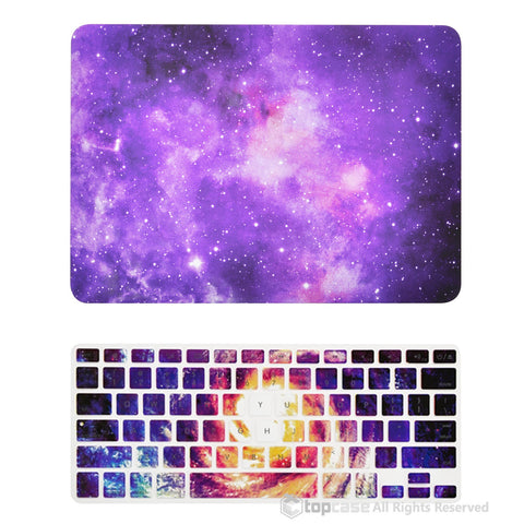 "TOP CASE 2 in 1 - Macbook Pro 13"" Galaxy Matte Case + Galaxy Keyboard Skin - Purple"
