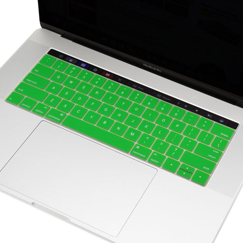 "2016 Macbook Pro Keyboard Cover, Ultra Slim Silicone Keyboard Cover Skin for Macbook Pro 13"" 15"" WITH Touch Bar A1706 / A1707 (2016 Release) - Green"