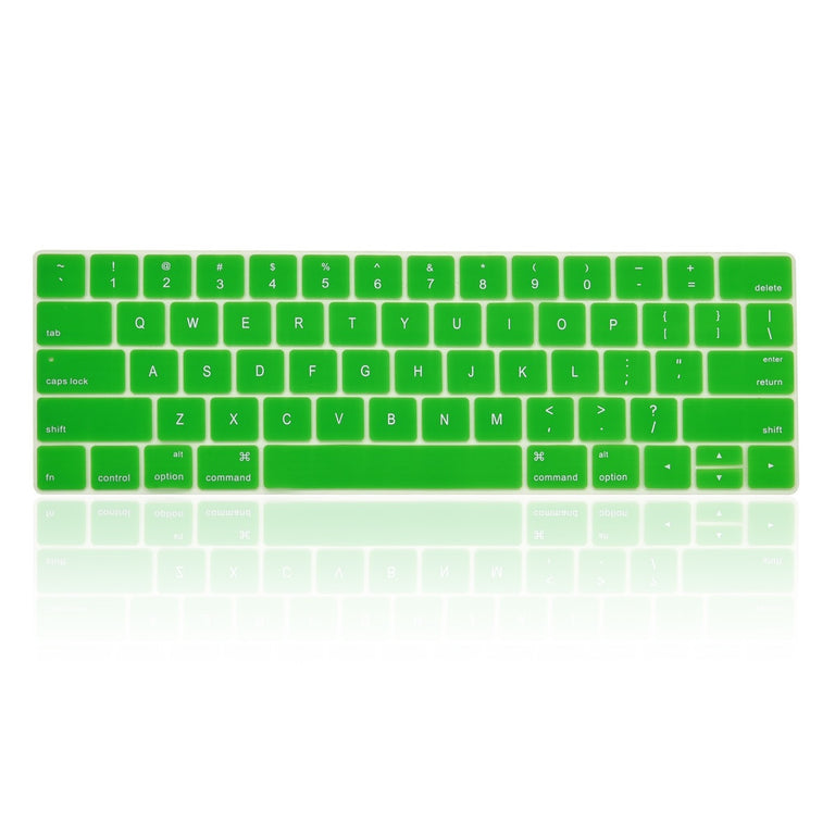 "Ultra Slim Silicone Keyboard Cover Skin for Macbook Pro 13"" 15"" WITH Touch Bar A1706 / A1707 / A1990 /A1998 (2016/17/18 Release) - Green"