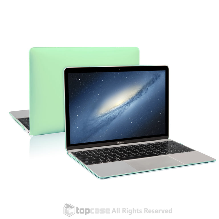 "Apple the New Macbook 12-Inch 12"" Retina Display Laptop Computer Green Rubberized Hard Shell Case Cover for Model A1534 (Newest Version 2015) - TOP CASE"