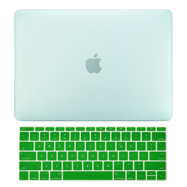 Macbook Pro 13 WITHOUT Touch Bar (2016 Release) 2 in 1 Bundle, Rubberized Matte Hard Case + Matching Color Keyboard Cover for MacBook Pro 13-inch A1708 without Touch Bar - Green