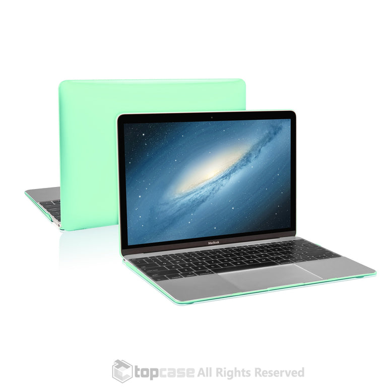 "Apple the New Macbook 12-Inch 12"" Retina Display Laptop Computer Green Crystal Hard Shell Case Cover for Model A1534 (Newest Version 2015) - TOP CASE"