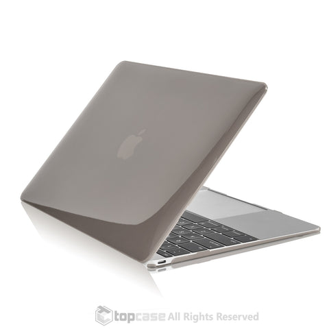 "Apple the New Macbook 12-Inch 12"" Retina Display Laptop Computer Gray Crystal Hard Shell Case Cover for Model A1534 (Newest Version 2015) - TOP CASE"