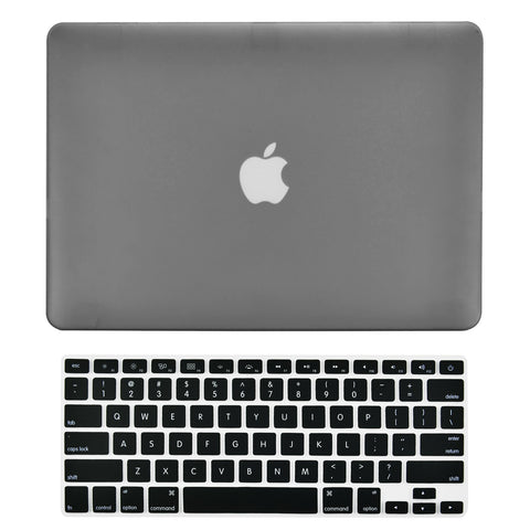 "TOP CASE 2 in 1 - Macbook Pro 15"" Matte Case + Keyboard Skin - Grey"