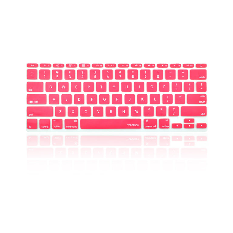 "Hot Pink Keyboard Silicone Cover Skin for Macbook Air 11"" Model: A1465"