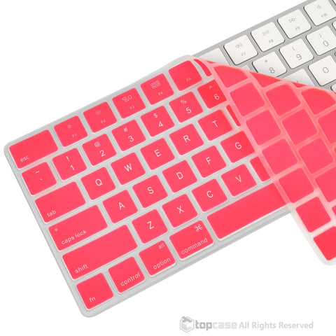 Apple Magic Keyboard Pink Ultra Thin Soft Silicone Keyboard Cover Skin for Magic Keyboard MLA22LL/A US Keyboard Layout - TOP CASE