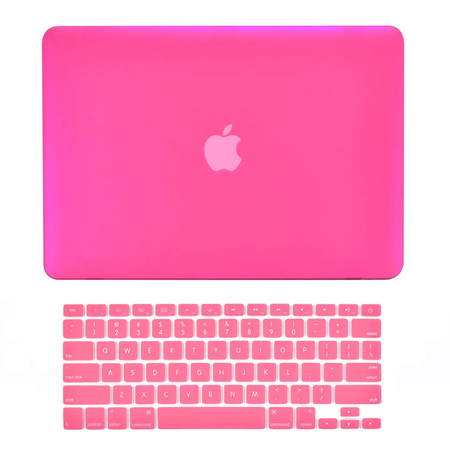 "TOP CASE - 2 in 1 MacBook Pro RETINA 15"" Hard Cover + Keyboard Skin - HOT PINK"