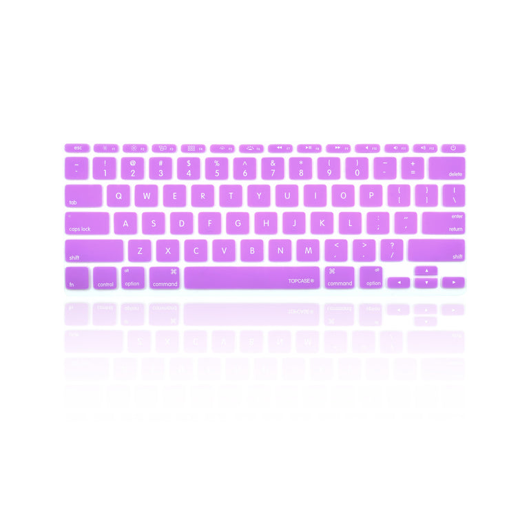 "Light Purple Keyboard Silicone Cover Skin for New Macbook Air 11"" Model: A1465 - TOP CASE"