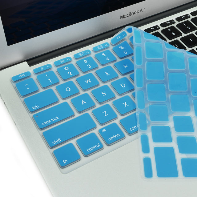 "Sky Blue Keyboard Silicone Cover Skin for New Macbook Air 11"" Model: A1465"