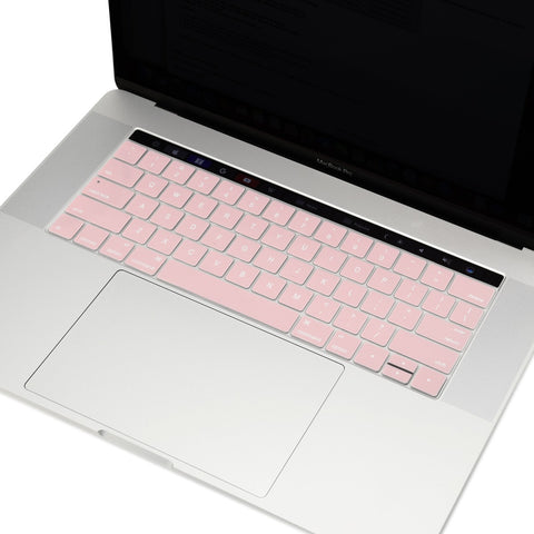 "2016 Macbook Pro Keyboard Cover, Ultra Slim Silicone Keyboard Cover Skin for Macbook Pro 13"" 15"" WITH Touch Bar A1706 / A1707 (2016 Release) - Rose Quartz"