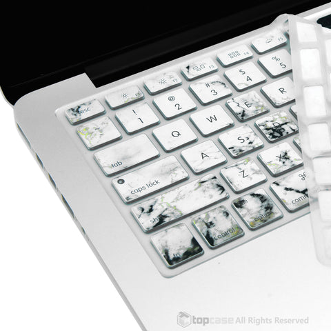 "Marble Pattern Ultra Thin Soft Silicone Keyboard Cover Skin for Macbook 13"" 15"" 17"" - TOP CASE"