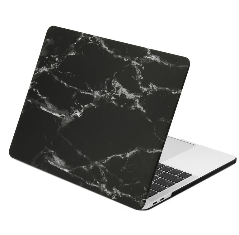 TOP CASE - Macbook Pro 13 Case 2016/17/18, Matte Hard Case Cover for MacBook Pro 13-inch A1706 /A1989 / A1708 with / without Touch Bar - Marble Black