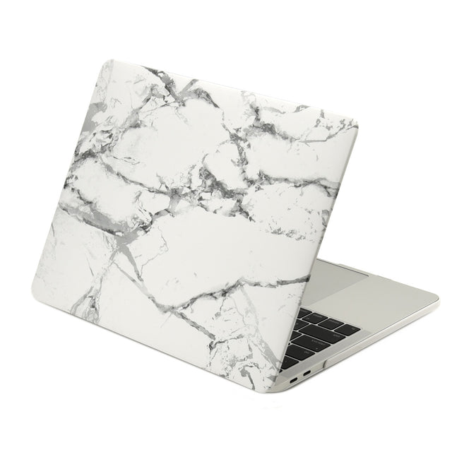 TOP CASE - Macbook Pro 13 Case 2016, Matte Hard Case Cover for MacBook Pro 13-inch A1706 / A1708 with / without Touch Bar ( Release Oct 2016 ) - Marble White