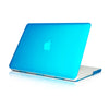 "Aqua Rubberized Hard Case Cover for Macbook White 13"" - TOP CASE"
