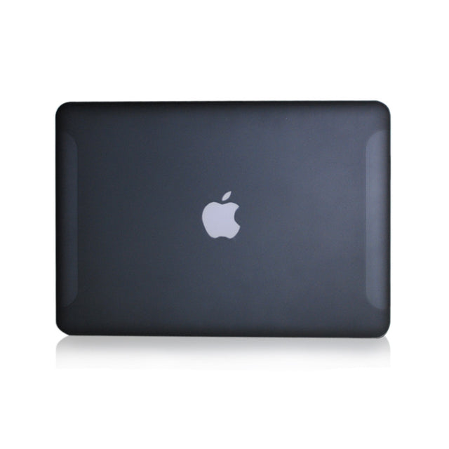 "Black Rubberized Hard Case Cover for Macbook White 13"" - TOP CASE"