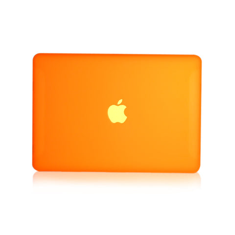 "Orange Rubberized Hard Case Cover for Macbook White 13"" - TOP CASE"