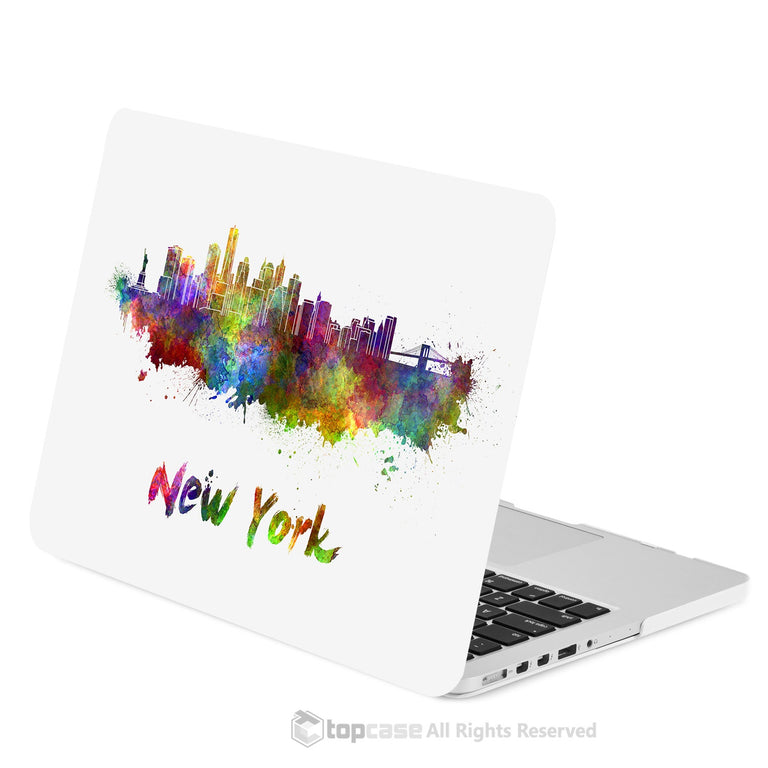 "TOP CASE - City Skyline Graphics Rubberized Hard Case Cover for Macbook Retina 13"" - New York"