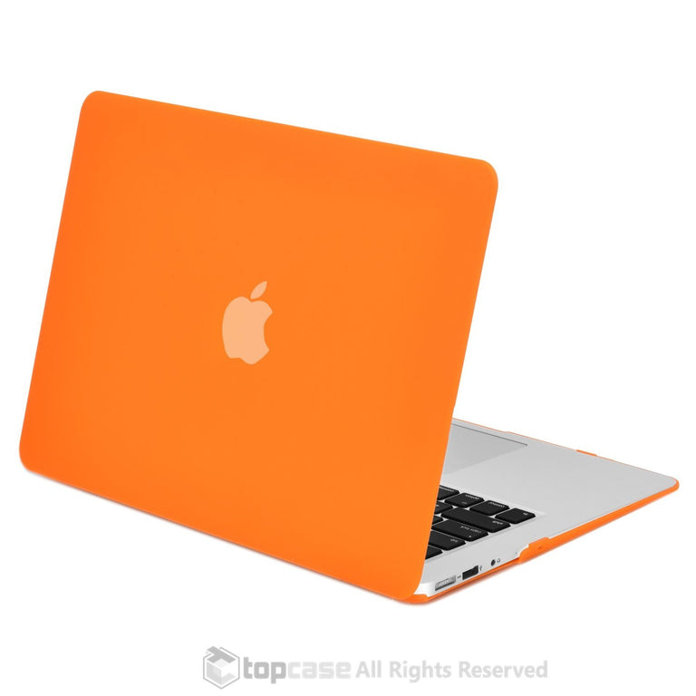 "Rubberized Orange Hard Case for Macbook Air 13"" A1369 and A1466"