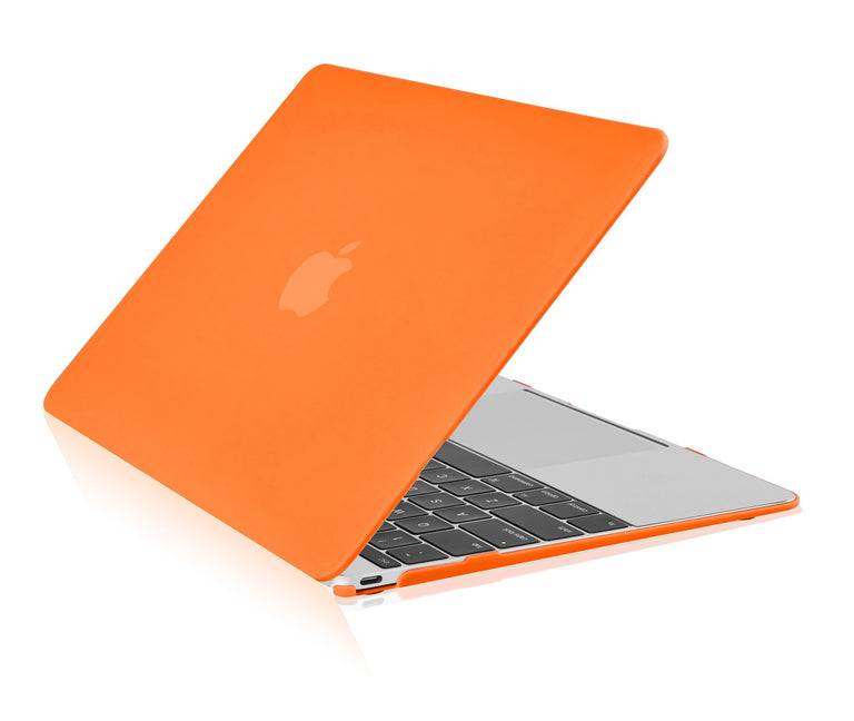 "Apple the New Macbook 12-Inch 12"" Retina Display Laptop Computer Orange Rubberized Hard Shell Case Cover for Model A1534 (Newest Version 2015) - TOP CASE"
