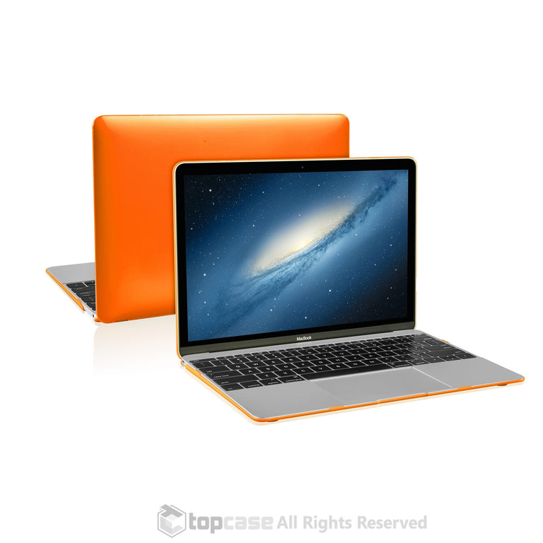 "Apple the New Macbook 12-Inch 12"" Retina Display Laptop Computer Orange Crystal Hard Shell Case Cover for Model A1534 (Newest Version 2015) - TOP CASE"