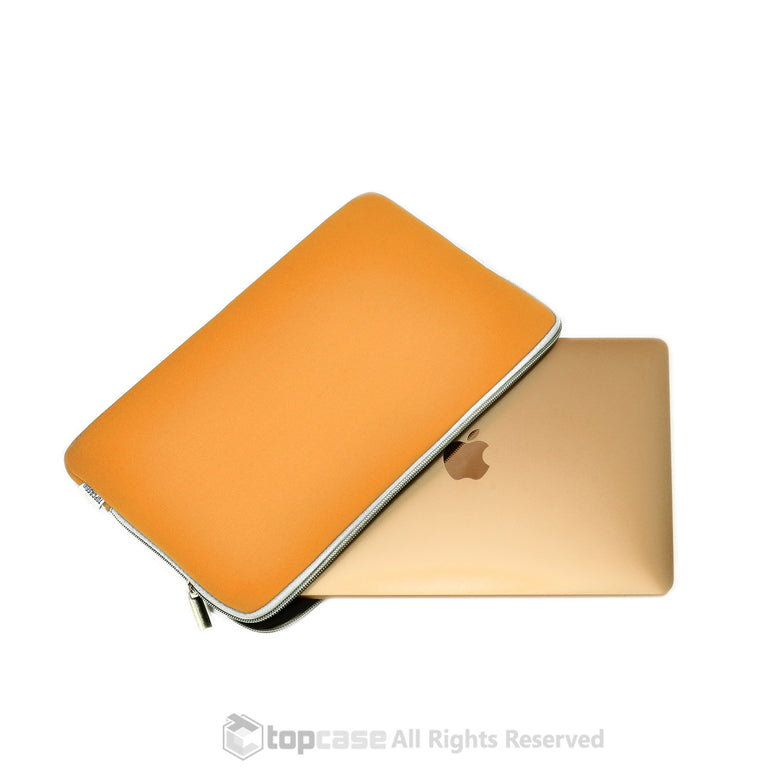 "Zipper Orange Sleeve Bag Cover for Macbook 12"" 12-Inch Model: A1534 Retina Noteboook"