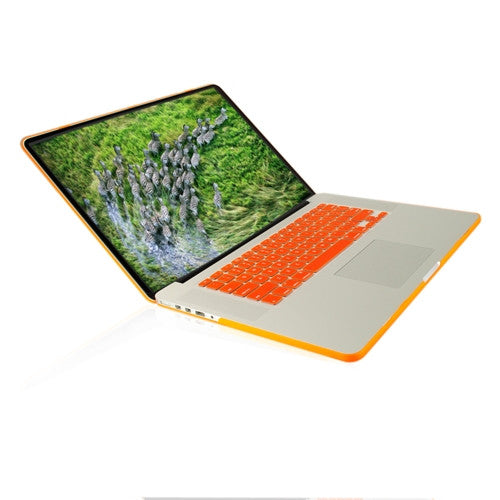 "Orange Rubberized Hard Case for NEW Macbook Pro 15"" A1398 with Retina display - TOP CASE"