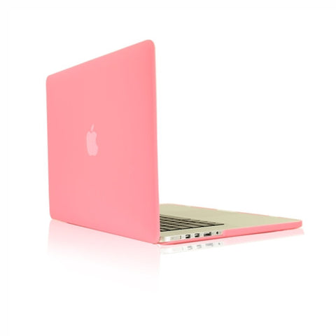 "Pink Rubberized Hard Case for NEW Macbook Pro 15"" A1398 with Retina display - TOP CASE"