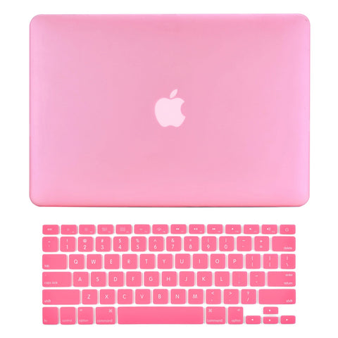 "TOP CASE 2 in 1 - Macbook Pro 15"" Matte Case + Keyboard Skin - Pink"