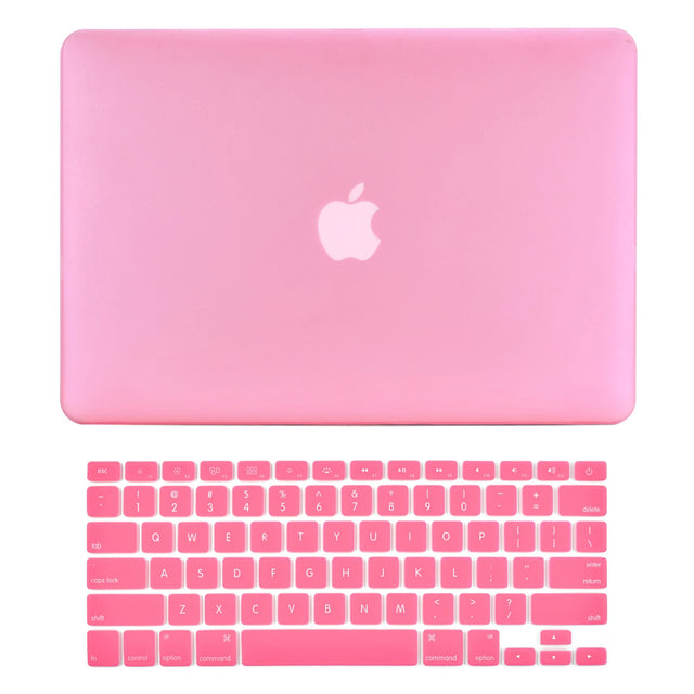 "TOP CASE - 2 in 1 MacBook Pro RETINA 15""  Hard Cover + Keyboard Skin - PINK"