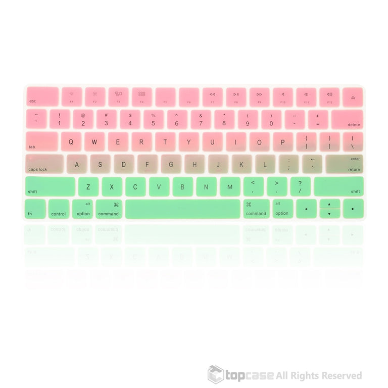 Faded Ombre Series Pink & Light Green Keyboard Cover Skin for Magic Keyboard MLA22LL/A US Version