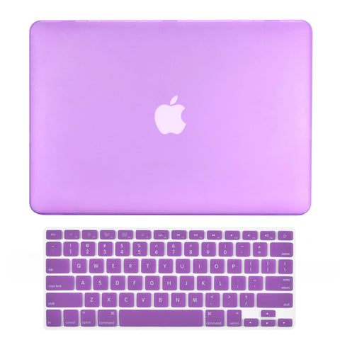"TOP CASE 2 in 1 - Macbook Air 13"" Rubberized Case Cover + Keyboard Cover - Purple"