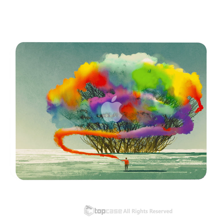 "TOP CASE - Art Printing Series Hard Case for Macbook Pro 13""with Retina - Cotton Candy Colorful Tree"
