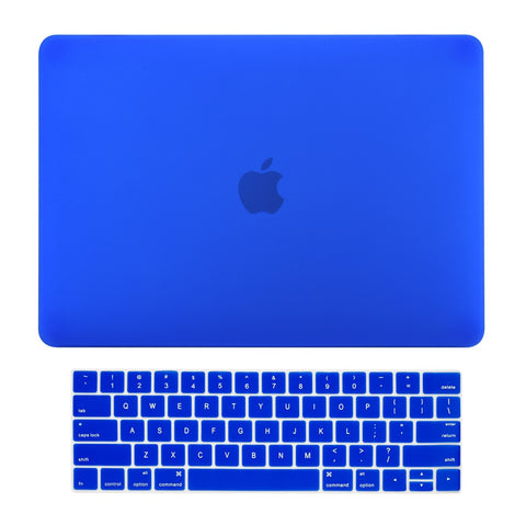 2016 Macbook Pro 15 Case 2 in 1 Bundle, Rubberized Matte Hard Case + Matching Color Keyboard Cover for MacBook Pro 15-inch A1707 with Touch Bar ( Release Oct 2016 ) - Royal Blue