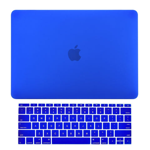 Macbook Pro 13 WITHOUT Touch Bar (2016 Release) 2 in 1 Bundle, Rubberized Matte Hard Case Cover + Keyboard Cover for MacBook Pro 13-inch A1708 without Touch Bar - Royal Blue