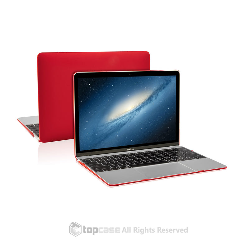 "Apple the New Macbook 12-Inch 12"" Retina Display Laptop Computer Red Rubberized Hard Shell Case Cover for Model A1534 (Newest Version 2015) - TOP CASE"