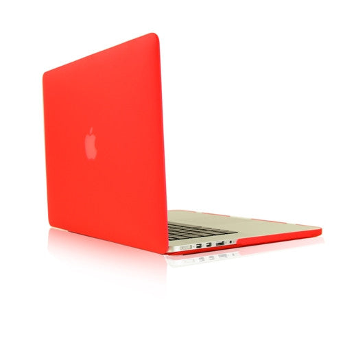 low priced d2056 b8a97 Red Rubberized Hard Case for Macbook Pro 15