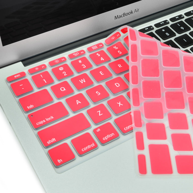 "Red Keyboard Silicone Cover Skin for Macbook Air 11"" Model: A1465"