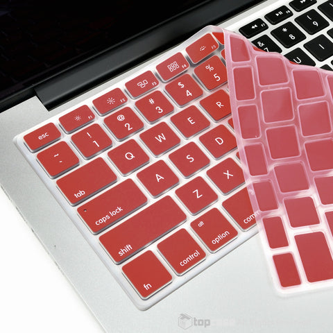 "Wine Red Silicone Keyboard Cover Skin for Macbook 13"" 15"" 17"""