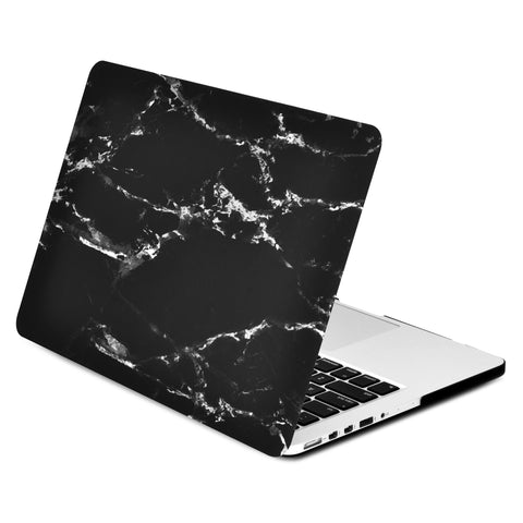 "Black Marble Rubberized Hard Case for MacBook Pro 13"" with Retina Display Model A1425 / A1502 - TOP CASE"