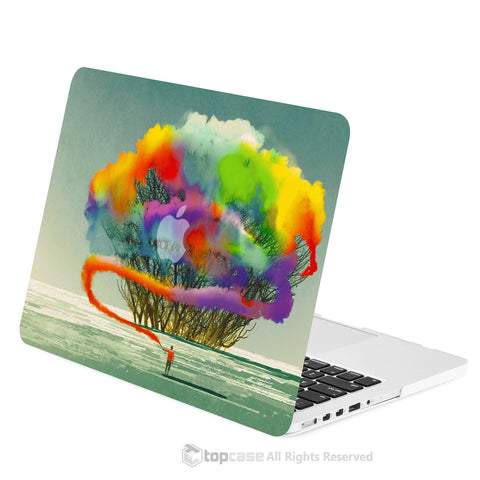 "TOP CASE - Art Printing Series Hard Case for Macbook Retina 15"" - Cotton Candy Colorful Tree"