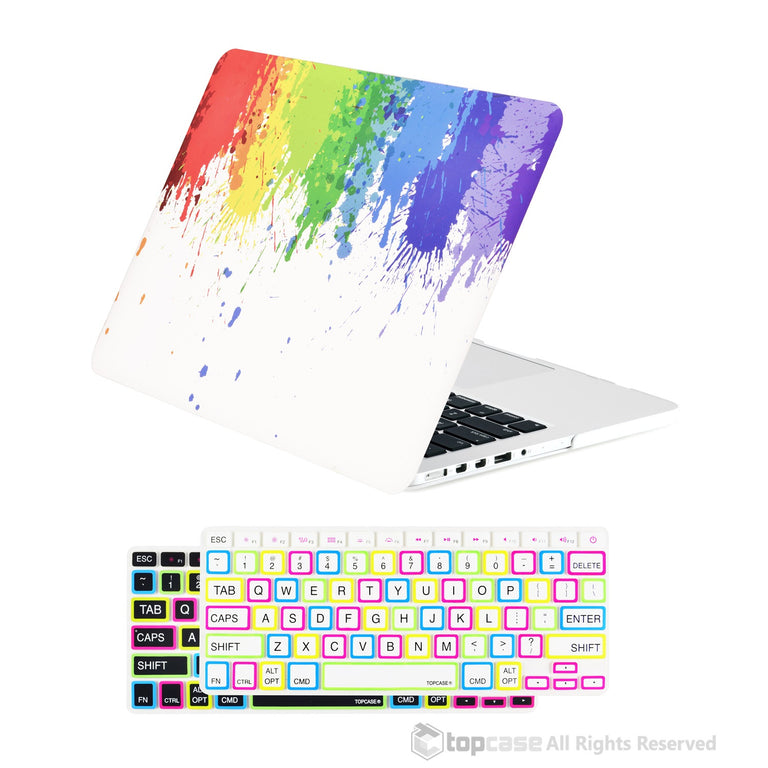 "TOP CASE 2 in 1 - Macbook Retina 13"" Paint Splash Matte Case + Keyboard Skin"