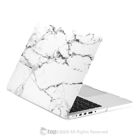 "White Marble Rubberized Hard Case for MacBook Pro 13"" with Retina Display"